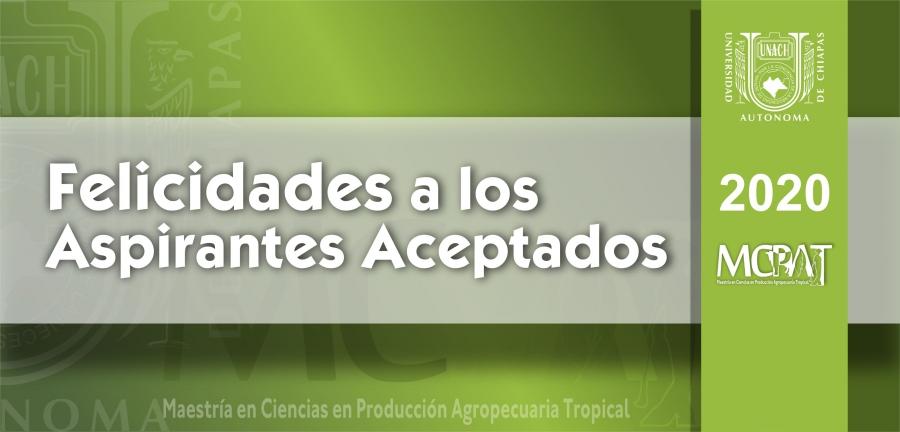 ASPIRANTES ACEPTADOS DE LA CONVOCATORIA 2020